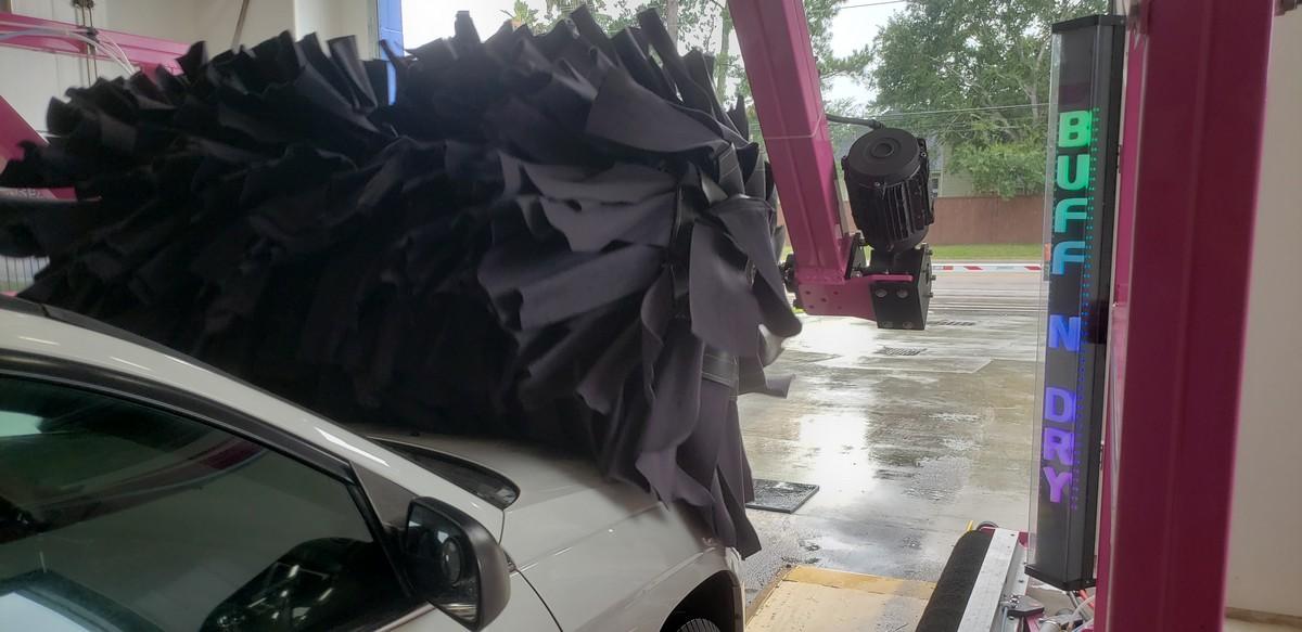 Buff and Dry Machine